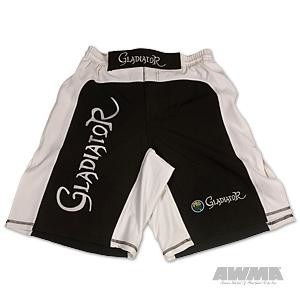 ProForce® Gladiator Ultra MMA Board Shorts – Black w/White