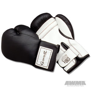 ProForce® Gladiator Leatherette Boxing Gloves – Black/White