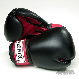 ProForce® Leatherette Boxing Gloves w/Red Palm
