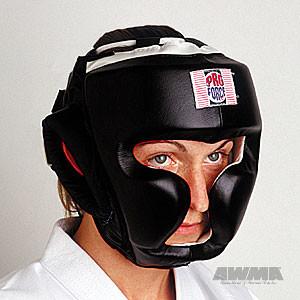 ProForce® Full Headguard, Headgear (Black leather)
