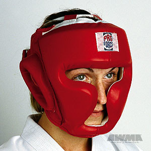 ProForce® Full Headguard, Headgear (Red Vinyl)