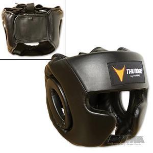ProForce® Thunder Vinyl Full-Face Boxing Headgear – Black