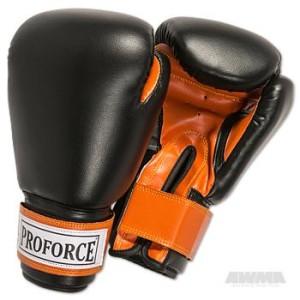 ProForce® Leatherette Boxing Gloves – Black/Orange
