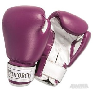 ProForce® Leatherette Boxing Gloves – Purple/White