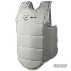 WKF Interior Body Protector – White