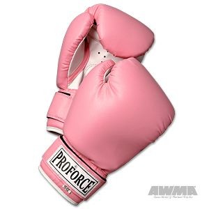 ProForce® Leatherette Boxing Gloves – Pink w/White Palm
