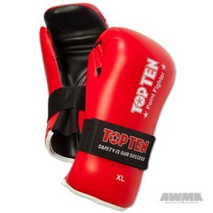 TOP TEN Point Fighter Gloves – Red