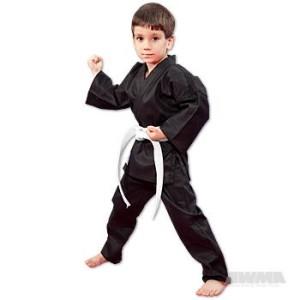 ProForce® 6 oz. 100% Cotton Student Uniform – Black (Traditional Drawstring)