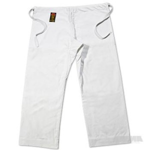 ProForce® Gladiator 14 oz. 100% Cotton Karate Pants – White (Traditional Waist)