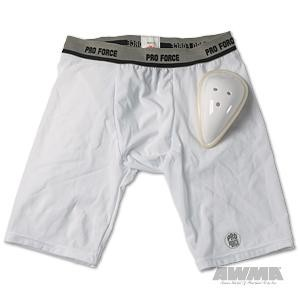 ProForce® Compression Shorts w/ Cup – White