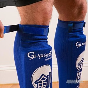 Gladiator® Ultra Combination Cloth Shin/Instep Guard – Blue