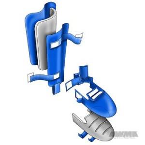 Adidas® WKF Leg Protector w/Instep Guard – Blue