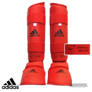 Adidas® WKF Leg Protector w/Instep Guard – Red