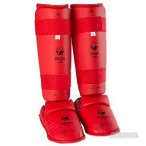 Tokaido WKF Approved Shin & Instep – Red